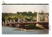 St Nicholas Bridge In Kiev - Ukraine - Ca 1900 Carry-all Pouch