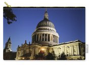 St Pauls Cathedral At Dusk, Exterior Carry-all Pouch