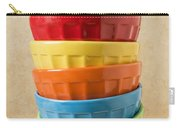 Stack Of Colored Bowls With Ice Cream On Top Carry-all Pouch