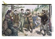 Stagecoach Robbery, 1880s Carry-all Pouch by Granger