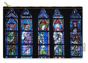 Stain Glass At Notre Dame Cathedral Parus Carry-all Pouch