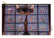Stained Glass At Notre Dame Cathedral Carry-all Pouch