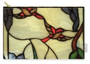 Stained Glass Humming Bird Vertical Window Carry-all Pouch by Thomas Woolworth