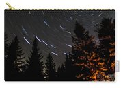 Star Trails Above Spruce Tree Line Carry-all Pouch by Darcy Michaelchuk