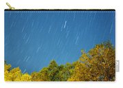 Star Trails On A Blue Sky Carry-all Pouch