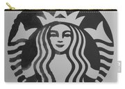 Starbuck The Mermaid In Black And White Carry-all Pouch