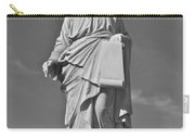Statue 01 Black And White Carry-all Pouch