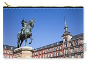 Statue Of King Philip IIi At Plaza Mayor Carry-all Pouch