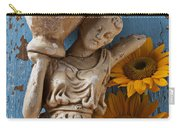 Statue Of Woman With Sunflowers Carry-all Pouch
