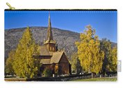Stave Church In Lom Carry-all Pouch
