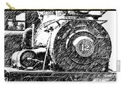 steam Engine pencil sketch Carry-all Pouch
