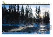 Steaming River In Winter Carry-all Pouch