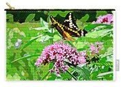 Stencilled Butterfly Carry-all Pouch