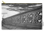 Steps Of Central Park In Black And White Carry-all Pouch