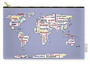 Steve Jobs Apple World Map Digital Art Carry-all Pouch