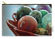 Still Life Crosses Reflected In Bowl Of Glass Marbles Art Prints Carry-all Pouch