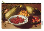Still Life Of Cherries - Marrows And Pears Carry-all Pouch