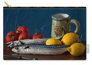 Still Life With Mackerels Lemons And Tomatoes Carry-all Pouch