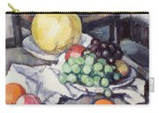 Still Life With Melons And Grapes Carry-all Pouch by Samuel John Peploe
