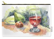 Still Life With Red Wine Glass Carry-all Pouch