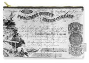 Stock Certificate, 1853 Carry-all Pouch
