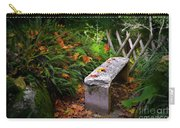 Stone Bench Carry-all Pouch by Carlos Caetano