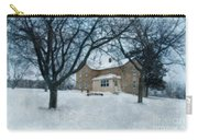Stone Farmhouse In Winter Carry-all Pouch
