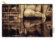 stone in reflexion - Statue reflected in a sea of doubt in vintage process Carry-all Pouch
