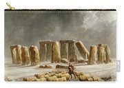 Stonehenge In Winter  Carry-all Pouch by Walter Williams