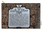 Stonewall Jackson House Carry-all Pouch by Todd Hostetter