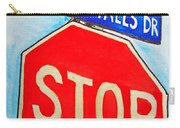 Stop Sign Sketchbook Project Down My Street Carry-all Pouch by Irina Sztukowski