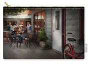 Storefront - Frenchtown Nj - At A Quaint Bistro  Carry-all Pouch by Mike Savad