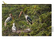 Storks Around A Nest Carry-all Pouch