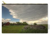 Storm Clouds Gather Over An Abandoned Carry-all Pouch