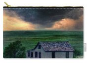 Storm Over Abandoned House Carry-all Pouch by Jill Battaglia