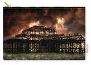 Storm Over The West Pier Carry-all Pouch