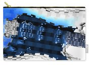 Abstract Guitar In Blue Carry-all Pouch