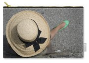 Straw Hat And Green Shoes Carry-all Pouch