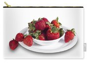 Strawberries In A White Bowl No.0029v1 Carry-all Pouch