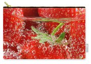 Strawberries In Water Close Up Carry-all Pouch