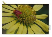 Strawberry Moth On A Yellow Flower Carry-all Pouch