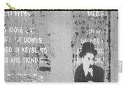Street Graffiti Art - The Little Tramp Bw Carry-all Pouch
