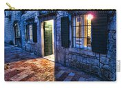Street Scene In Ancient Kotor Montenegro Carry-all Pouch by David Smith