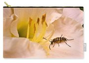 Striped Beetle On Lilly 1 Carry-all Pouch
