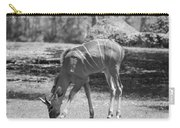 Striped Deer In Black And White Carry-all Pouch