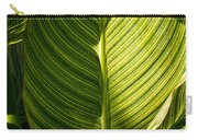 Striped Leaf Pattern  Carry-all Pouch