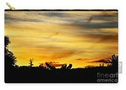 Stripey Sunset Silhouette Carry-all Pouch
