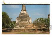 Stupa Chedi Of A Wat In Thailand Carry-all Pouch