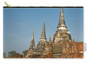 Stupas Chedis Of A Wat In Ayutthaya Carry-all Pouch