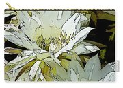 Stylized Cactus Flowers Carry-all Pouch